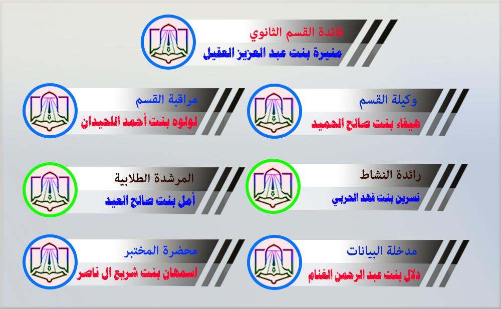 الهيئة الإدارية للقسم الثانوي