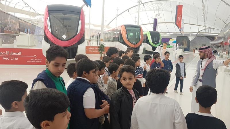 زيارة طلاب القسم الابتدائي لمشروع (مترو الرياض)