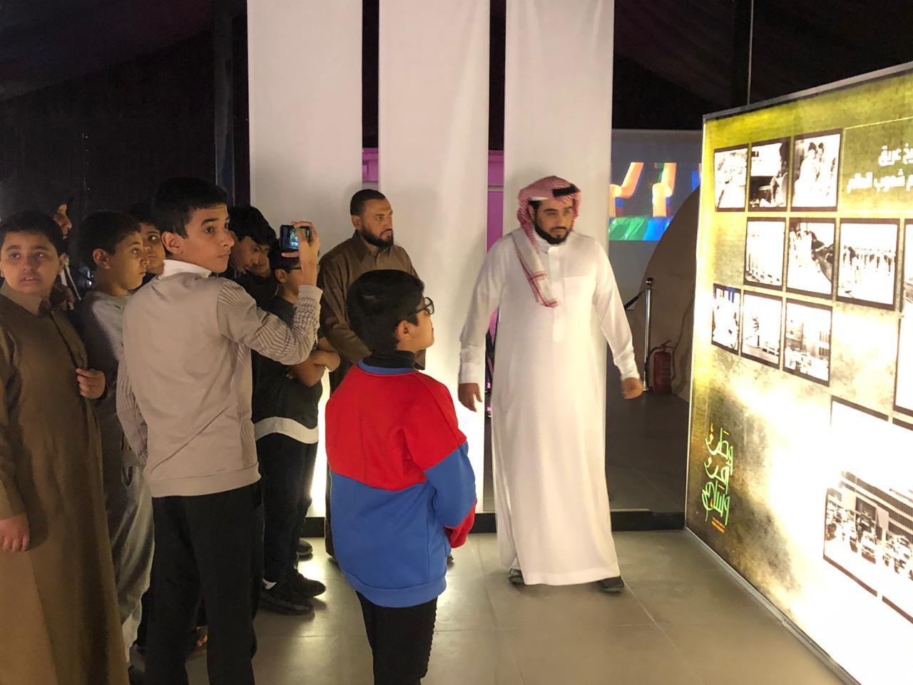 طلابنا يشاركون في معرض وطن أمن وسلام في مؤسسة اليمامة