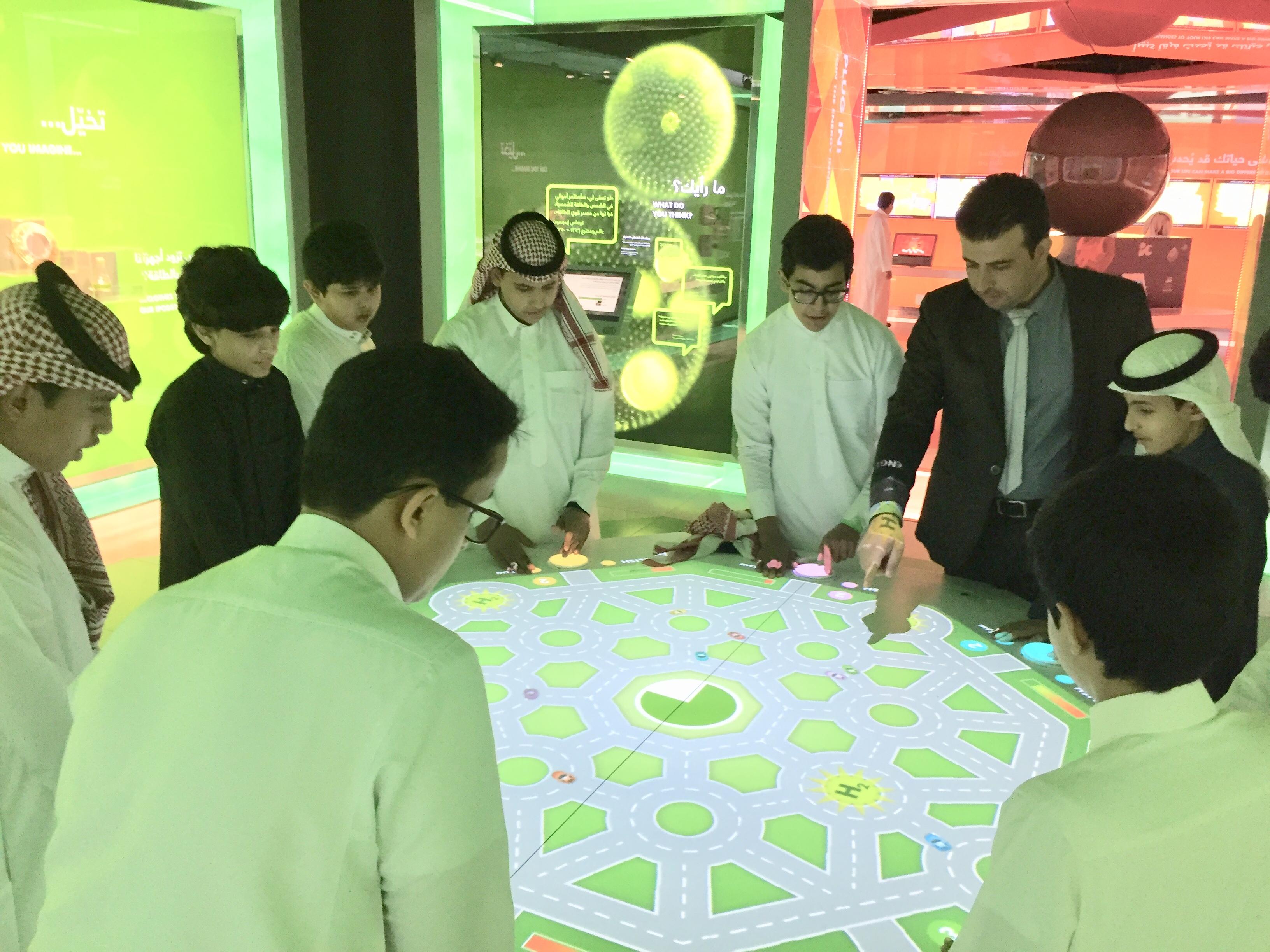 زيارة علمية لمعرض مشكاة بمدينة الملك عبدالله  للطاقة الذرية