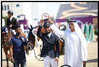 سلمان  العجمي   يحصد المركز الثالث في مسابقة قفز الحواجز
